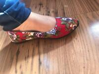 New Ladies Floral Print Flats Pumps £12.99 Free Delivery!