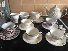Miss match tea set