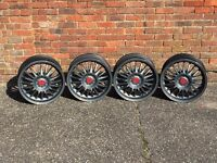 Schmidt germany deep dish alloy wheels, 4x100, 17inch, Vw Honda Mazda Bmw e30