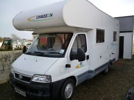 REDUCED FURTHER FOR QUICK SALE Fiat Ducato Chausson Welcome 9. 4 Berth Low mileage