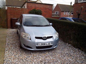 2008 TOYOTA AURIS 2.0 D4D, 6 SPEED MANUAL, 88000 MILES, SERVICE HISTORY, NEW MOT, 45+ MPG.