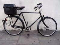 Mens Single Speed Town Bike by Pashley, Black, New Wheel, Cargo Box, JUST SERVICED/ CHEAP PRICE!!!!!