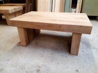 Handmade chunky oak coffee tables