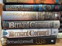 Massive Collection of 23 Books by Bernard Cornwell Hard Back Sharps Adventures to Historical Titles