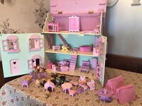 Rosebud ELC Dolls house Complete with furniture and dolls