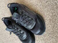 Boys black puma trainers size 12