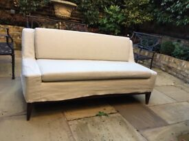 Small Sofa Mid-Century Italian Design, Banquete or Bed End
