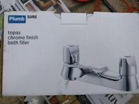 Chrome finish bath filler tap new unused
