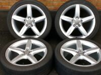 "18"" Genuine Audi S Line Florida 5x112 Alloys A3 A4 A6 Wheels Seat Skoda Volkswagen"