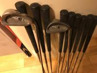 Ping Eye irons black spot full set 1 iron to sand wedge regripped.