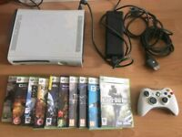 XBOX 360 CONSOLE with 10 GAMES - BARGAIN £49
