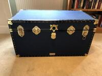 Blue coloured chest / trunk. Ideal for kids bedroom and toy storage.