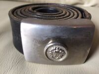 GIANNI VERSACE MEN'S GENUINE LEATHER BELT IN GOOD CONDITION ***WOW***