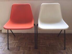 John Lewis Polypropylene Robin Day Side/Dining Chairs x9