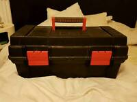 Tool box with hammer drill and electric sander