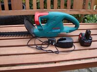 bosch cordless hedge trimmer +battery+charger