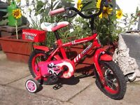 Childs Bike & Stabilizers (Apollo Firechief) Fully Working vgc.