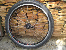 24seven 26 inch front wheel Maxxis Holy roller tyre