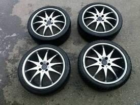 17in alloy wheels mx5 Honda polo golf 4x100