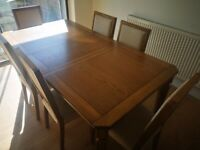 Furniture Village Dining Table and 6 Chairs