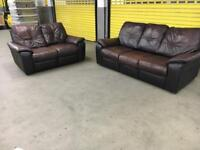 Genuine leather 3+2 seater sofa •free delivery