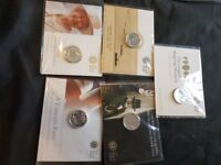 Full set of 20 pound coins