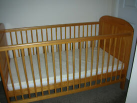 Angelina Cot Bed East Coast Nursery Ltd with mattress