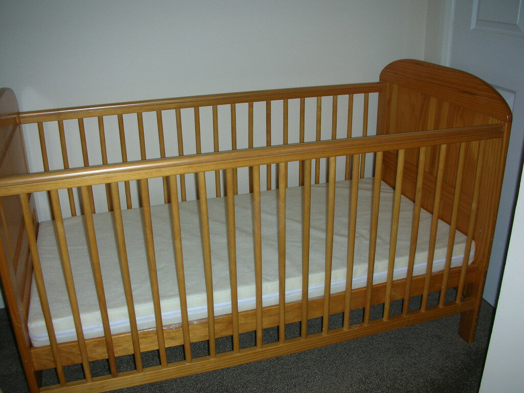Angelina Cot Bed East Coast Nursery Ltd With Mattress In