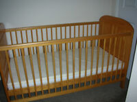 Angelina Cot Bed East Coast Nursery Ltd with mattress