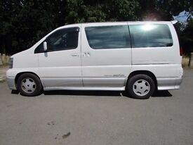 1998 R NISSAN ELGRAND 3.2 HIGHWAY STAR AUTO 8 SEATER LONG MOT 2 OWNERS LEATHER A/C ALLOYS PX SWAPS