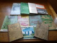 11 original Ford books and manuals. 9 in VGC, 2 average cond. Full set £150 or will sell separately.