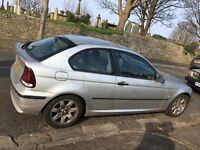 BMW 316ti 180000 miles Spares and Repairs. £300 ono