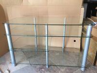 Glass TV stand 3 and half shelves