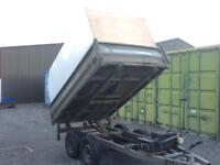Indespension 8x5 tipping / tipper trailer