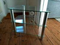Glass TV stand in good condition