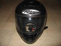 Nitro Racing Full Face motorcycle helmet - All black