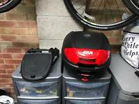 Givi top box and rack - Honda cbf125