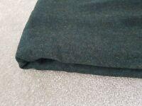 Heavy Tweed Fabric in Dark Green 330x155 260 gms Stunning quality 100% Pure Wool