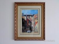 Old buildings - oil painting - K.Seński - Witham