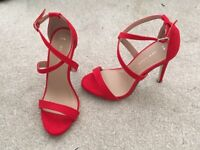 Beautiful Red New Look heels size 3