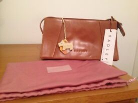 Genuine Leather Brand New Radley Baguette Handbag - Tan