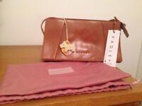 Genuine Leather Brand New Radley Baguette Handbag - Tan