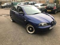 2002/52 SEAT IBIZA 1.2 S LOW MILEAGE YEARS MOT DRIVES VERY WELL