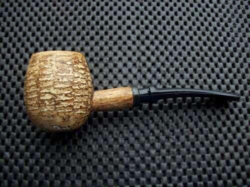 Missouri Meerschaum Corn Cob Pipe Diplomat Bent Black Danish Stem