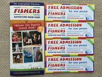 4x Free Admission Tickets for Fishers Adventure Farm Park, valid until 17.09.2017