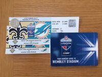 2 x NFL Tickets Miami Dolphisn 1st October £200 the pair