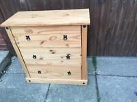 Wooden draws bedroom