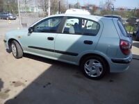 (2002)NASSAN ALMERA S 5 DOOR HATCHBACK,LOW MILEAGE..TEL,07984263176.....