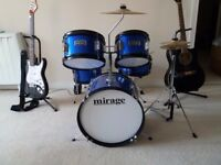 Mirage 5 piece kid drum kit barely used!!!