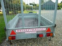 Trailer, galvanised heavy duty, 7 x 4 ,loading ramp tailgate, good condition,